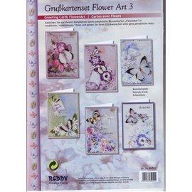 BASTELSETS / CRAFT KITS Ensemble complet de la carte, Grußkartenset Fleur