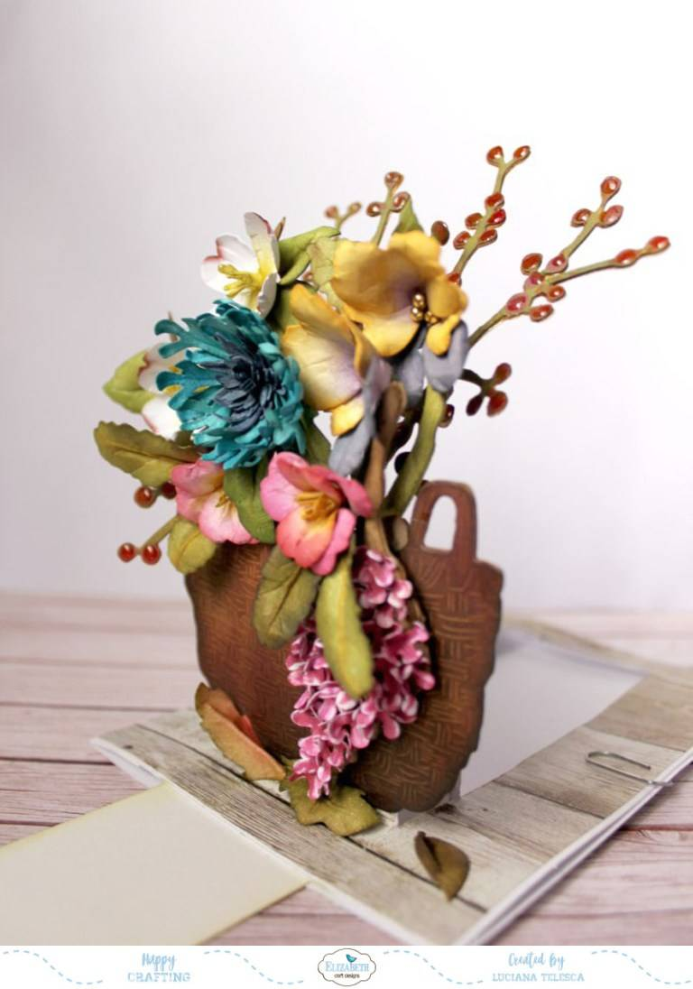 3D Blumen gestalten mit Stanzschablonen, Foam, Papier und Stempel