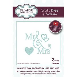 CREATIVE EXPRESSIONS und COUTURE CREATIONS Stanzschablonen: Mr and Mrs