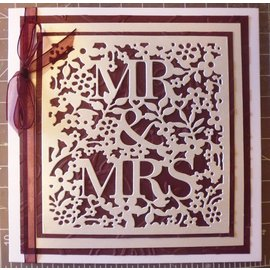 Docrafts / X-Cut Escoramentos e estampagem de estênceis: Mr & Mrs