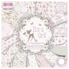 "Designer Papier Scrapbooking: 30,5 x 30,5 cm Papier Designerpapier, 15,5 x 15,5 cm, ""It's a Girl"" - zurück vorrätig"