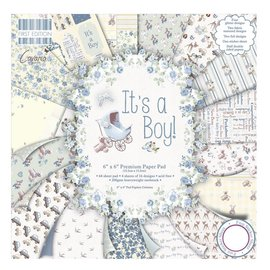 "Designer Papier Scrapbooking: 30,5 x 30,5 cm Papier Designer paper, 15.5 x 15.5 cm, ""It's a Boy"" - back in stock"