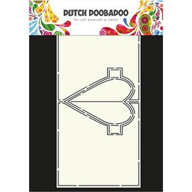 Dutch DooBaDoo A4 máscara de plástico: Tarjeta del arte del corazón Pop Up