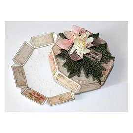 Joy!Crafts / Jeanine´s Art, Hobby Solutions Dies /  A4 plastic template: present box 8 corner, format 8,9 cm