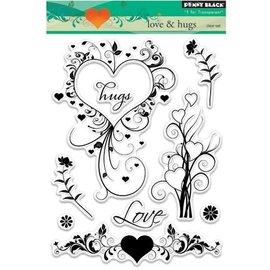Stempel / Stamp: Transparent Stamp trasparente: Love & abbracci