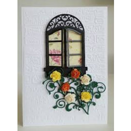 Spellbinders und Rayher cutting and embossing templates: window