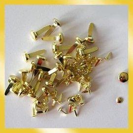 BASTELZUBEHÖR, WERKZEUG UND AUFBEWAHRUNG Brads 3 mm guld (40pcs)