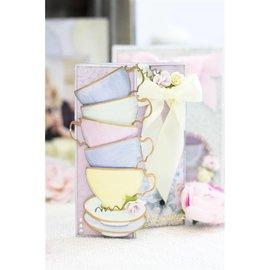 Crafter's Companion découpage et gaufrage modèles: Tasses à thé