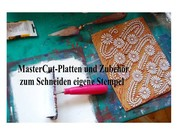 NY! carving plade og carvin værktøjer til at skære dine egne frimærker