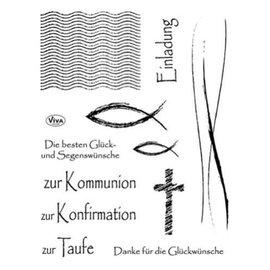 VIVA DEKOR (MY PAPERWORLD) Limpar comunhão selo, confirmação e batismo