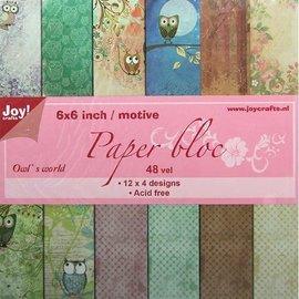 Joy!Crafts / Jeanine´s Art, Hobby Solutions Dies /  bloco de papel com motivos coruja
