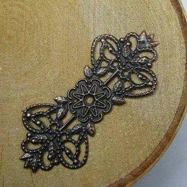 Embellishments / Verzierungen Metal decoraties, decoratie, 75 x 30 mm, 5 stuks
