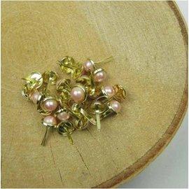 Embellishments / Verzierungen 10 brads madreperla, 8 mm