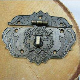 Embellishments / Verzierungen 1 lås i metal, 80 x 60 mm, stort