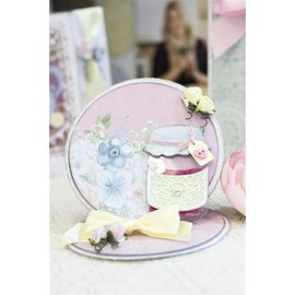 Crafter's Companion Corte e molde de estampagem: Tea Party Vintage, feito com amor