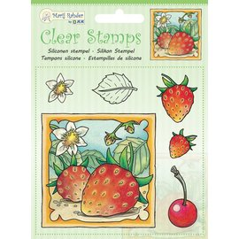 Penny Black Stamp trasparente: le fragole che raccolgono