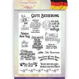Joy!Crafts / Jeanine´s Art, Hobby Solutions Dies /  Gennemsigtig Stempel: tyske tekst