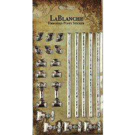Lablanche 3 / etiquetas em relevo tridimensionais com uma metálico brilhante finlandesa e destaque.