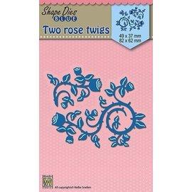 Nellie Snellen skæring og prægning skabelon: roser