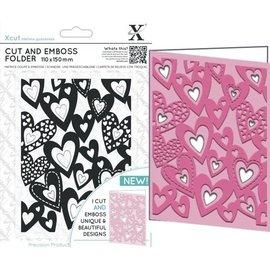 Docrafts / X-Cut skæring og prægning Stencils: hearts