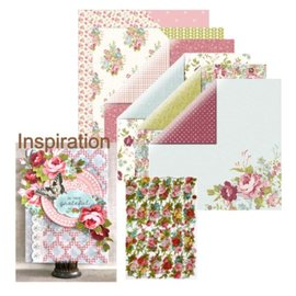 Designer Papier Scrapbooking: 30,5 x 30,5 cm Papier Ontwerper document, rozen + 1x Scrap rozen!