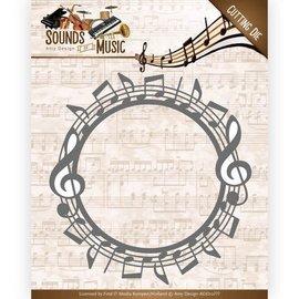 AMY DESIGN AMY DESIGN, Skæring og prægning skabelon: Lyde af musik - Music Border