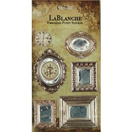 LaBlanche 3 Dimensional / embossed stickers with a shiny Finnish and metallic highlight