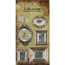 LaBlanche 3 / etiquetas em relevo tridimensionais com uma metálico brilhante finlandesa e destaque