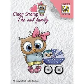 Nellie Snellen Nellie Snellen, Transparent stamp: The owl family