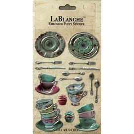 Lablanche, 3 Dimensional / prægede klistermærker med en skinnende finsk og metallisk højdepunkt