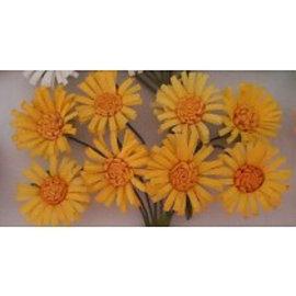 BLUMEN (MINI) UND ACCESOIRES Papierblümchen, 8 Gänseblümchen