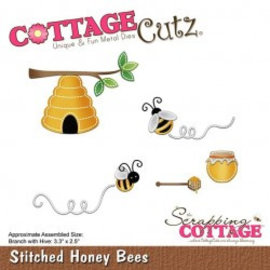 Cottage Cutz Cottage Cutz, corte e gravura em relevo: abelhas de mel costuradas