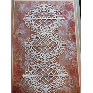 CREATIVE EXPRESSIONS und COUTURE CREATIONS Punching and embossing template, Lattice Arched Adornment