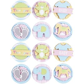 Embellishments / Verzierungen Ornamenter 3D Stickers: Baby motiver