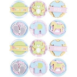 Embellishments / Verzierungen tolle  3D Sticker: Baby Motiven