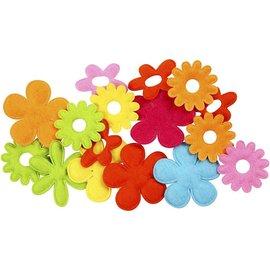 Embellishments / Verzierungen 20 flores de feltro, maior tamanho de 35x45 mm, espessura: 1,2 mm
