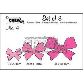 Crealies und CraftEmotions Crealies, modello di taglio e goffratura: 3 fiocchi