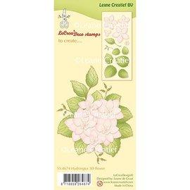 Leane Creatief - Lea'bilities Leane Creatief, Transparent Stempel: Hydrangea 3D Blume + Blätter