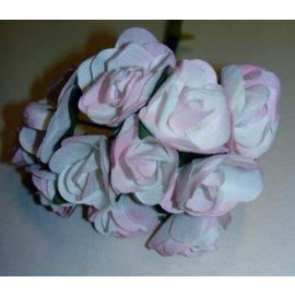 BLUMEN (MINI) UND ACCESOIRES 12 roses, format 15 mm