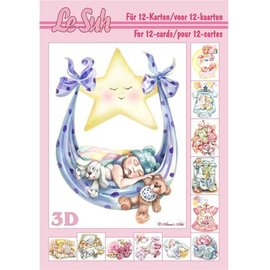 Bilder, 3D Bilder und ausgestanzte Teile usw... 3D Buch A5: Baby für auf 12 Karten!
