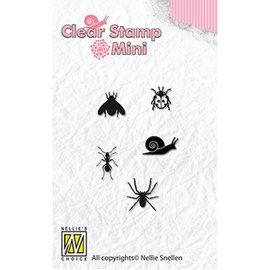 Nellie Snellen Nellie Snellen, Transparent Stempel: Mini Insekten