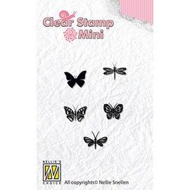 Nellie Snellen Transparent Stempel: Silhouette Schmetterlinge
