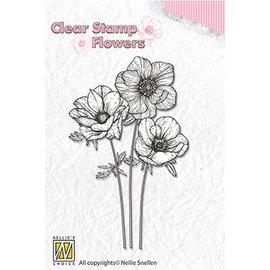 Nellie Snellen Nellie Snellen, Transparent Stempel: Blumen Anemonen