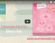 Video: Marianne Design, ponsen template Collectable COL1355, Fox