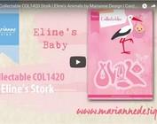 Vídeo, plantilla de perforación Marianne Design, COL1420, Storch