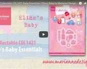 Vídeo Diseño Marianne, COL1421 coleccionable, ropa de bebé