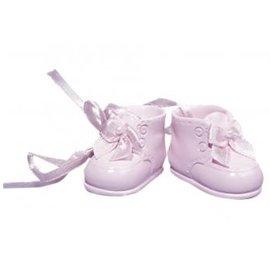 Embellishments / Verzierungen Polyresin baby sko, 4 cm, Boks 1 par, rosé
