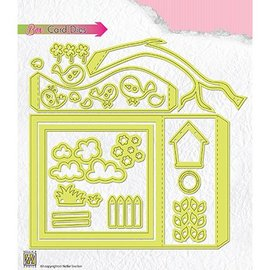 Nellie Snellen Nellie Snellen, Cutting and embossing Template: Box card, Shadowbox