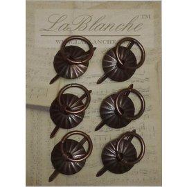 Lablanche, metal runde håndtag - Antik Kobber
