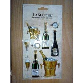 Lablanche, 3 Dimensional / Præget klistermærker med en skinnende metallisk finsk og highlight